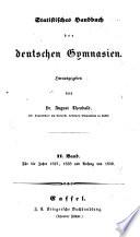 Statistisches Handbuch der deutschen Gymnasien