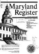 Maryland Register Book PDF