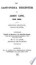 The East India Register and Army List for 1845