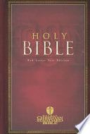 Holy Bible  Red letter Edition
