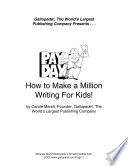 How To Make A Million Writing For Kids  book