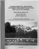 Environmental Recovery in Prince William Sound and the Gulf of Alaska