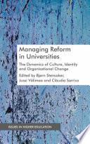 Managing Reform in Universities