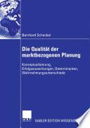 Die Qualität der marktbezogenen Planung