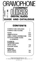 Gramophone Compact Disc Digital Audio Guide And Catalogue