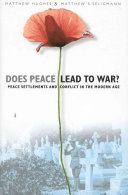 Does Peace Lead To War  book