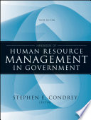 Handbook Of Human Resource Management In Government : in recent years due toincreased outsourcing, privatization, and...