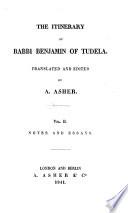 The itinerary of Rabbi Benjamin of Tudela