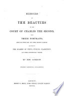 Memoirs of the Beauties of the Court of Charles the Second  with Their Portraits  After Sir Peter Lely and Other Eminent Painters