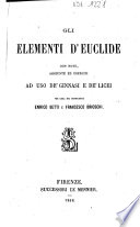 Gli elementi d Euclide