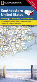 National Geographic State Guide Map Southeastern United States