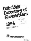 Oxbridge Directory of Newsletters