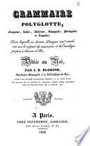 Grammaire polyglotte  fran  aise  latine  italienne  espagnole  portugaise et anglaise