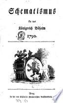 Schematismus für das Königreich Böheim