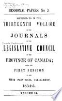 Journaux Du Conseil Législatif de la Prvince Du Canada