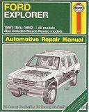Ford Explorer Mazda Navajo Automotive Repair Manual