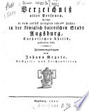 Verzeichniß aller Personen, welche in dem ...ten Jahre in ... Augsburg, catholischen Theils, gestorben sind