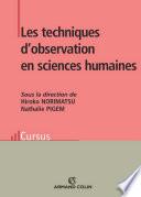 Les techniques d observation en sciences humaines