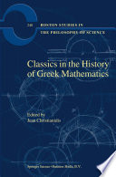 Classics In The History Of Greek Mathematics