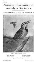 Educational Bird Leaflets  Showing Economic Value  Nesting Habits  Habitats and Migration