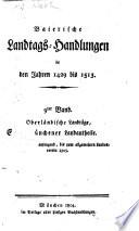 Baierische Landtags-Handlungen in den Jahren 1429 bis 1513