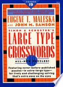 Simon and Schuster Large Type Crosswords