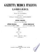 Gazzetta medica italiana Lombardia