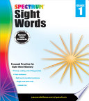 Spectrum Sight Words  Grade 1