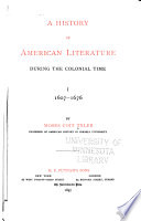 A History of American Literature During the Colonial Times