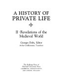 download ebook a history of private life: revelations of the medieval world pdf epub