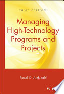 Managing High Technology Programs and Projects