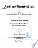 Kunst- und Gewerbeblatt des Polytechnischen Vereins für das Königreich Bayern