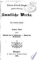 Johann Heinrich Jung S Genannt Stilling S Mmtliche Werke