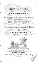 Der Olymp  oder  Mythologie der Aegypter  Griechen und R  mer