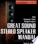 Great Sound Stereo Speaker Manual