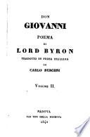 Don Giovanni   Poema di Lord Byron tradotto in prosa italiana