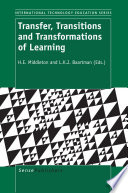 Transfer  Transitions and Transformations of Learning