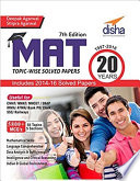 MAT 20 years Topic wise Solved Papers  1997 2016  7th Edition