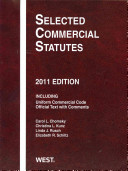 Selected Commercial Statutes 2011