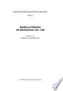 Deutsche Schriften: Schriften zu Taufertum und Spiritualismus 1531-1546