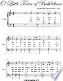 O Little Town of Bethlehem Easy Elementary Piano Sheet Music