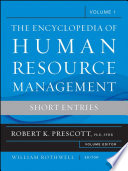 Encyclopedia of Human Resource Management  Key Topics and Issues