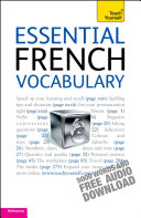 Essential French Vocabulary  Teach Yourself