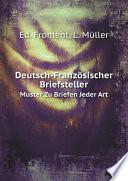 Deutsch Franz sischer Briefsteller