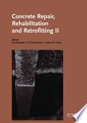 Concrete Repair  Rehabilitation and Retrofitting II