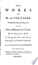 The Works of M  de Voltaire  A treatise on toleration