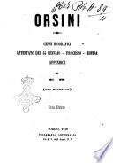 Orsini cenni biografici  attentato del 14 gennaio  processo  difesa  appendice