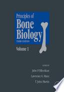 Principles Of Bone Biology book
