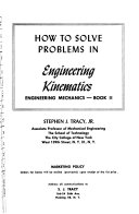 How to Solve Problems in Engineering Kinematics