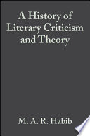 A History of Literary Criticism and Theory